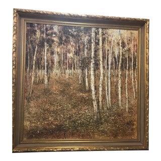Birch Tree Oil Painting