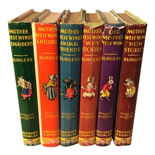 Thornton Burgess Children Classic Mother West Wind - Set of 6
