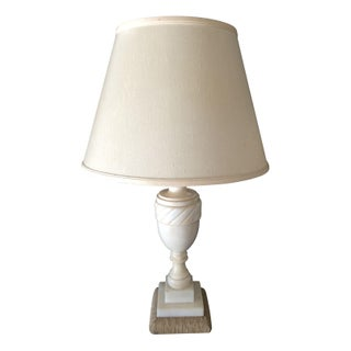Mid-Century White Marble Table Lamp