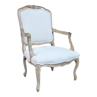 French Distress Painted Arm Chair