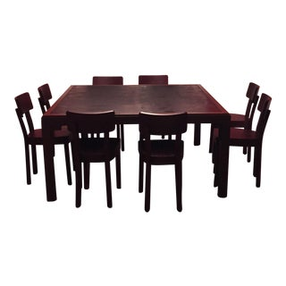 Gervasoni Otto Walnut, Bamboo Table & 8 Chairs