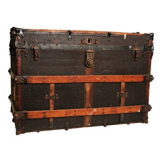 Antique Wood Steamer Trunk