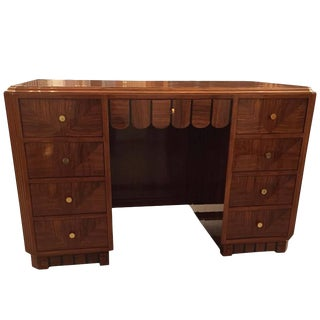 French Art Deco Desk with Secretary Table