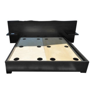 Custom King Platform Bed With Built In Side Tables