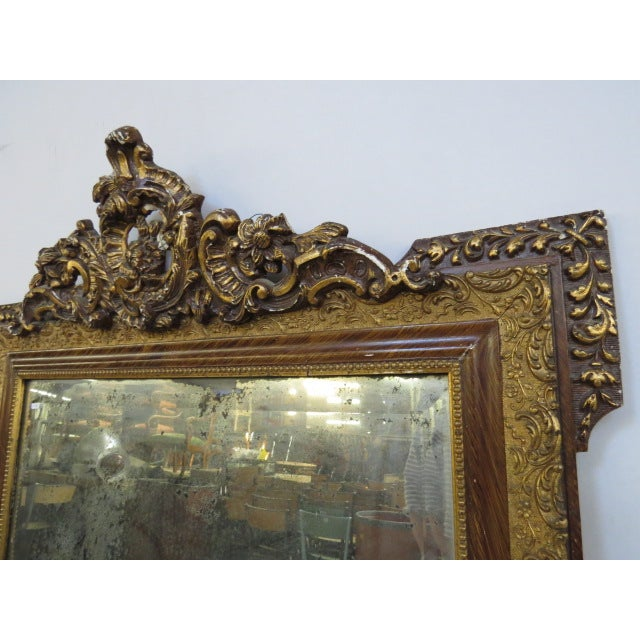Antique Gilded Mirror - Image 4 of 7