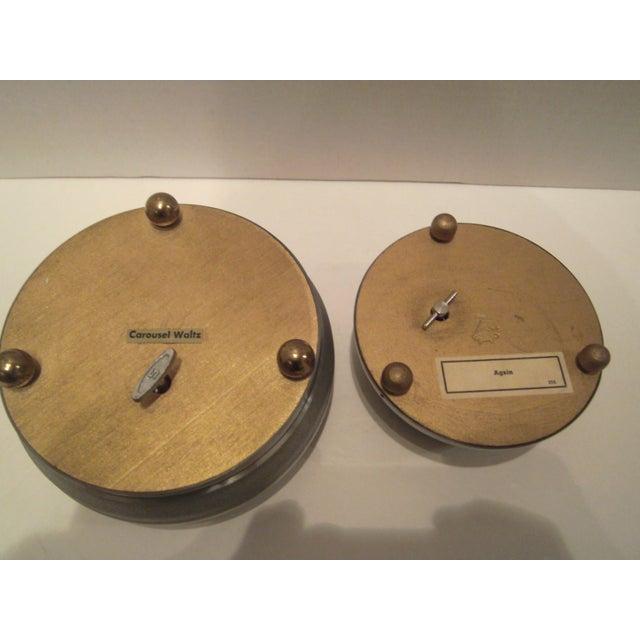 Image of 1940's Aluminum Musical Powder Boxes