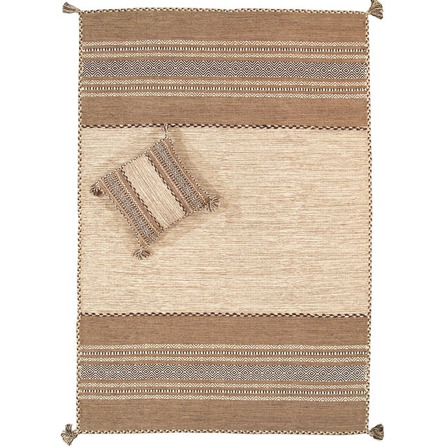 "Pasargad Rustic Kilim Collection Rug - 5'4"" x 7'8"" - Image 1 of 3"