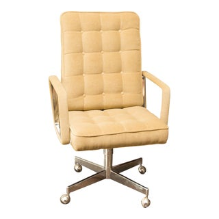 Mid-Century Donghia Mohair Executive Desk Chair
