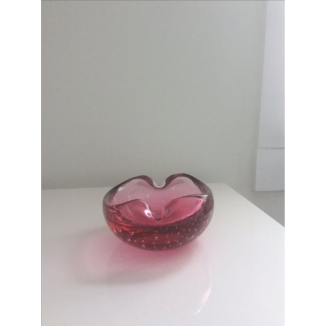 Image of Vintage Murano Style Glass Ashtray