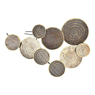 Burnished Disc Wall Art