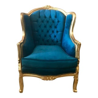 French Louis XVI Style Easy/Wingback Chair