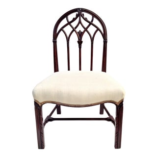 Mayhew Gothic Carved Mahogany Chair