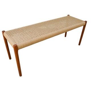 Vintage Danish Modern Niels Moller Teak Bench