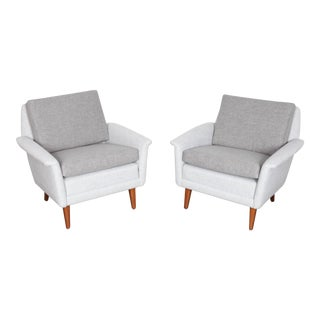Newly upholstered Folke Ohlssen Swedish lounge chairs