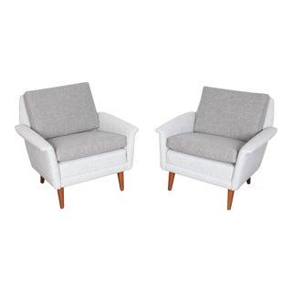 Newly upholstered Folke Ohlssen Swedish lounge chairs