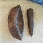 Image of Vintage Carved Wood Mortar & Pestle - A Pair