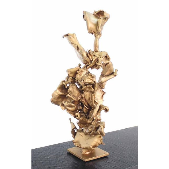 Twisted Metal Flakes Abstract Sculpture - Image 6 of 8
