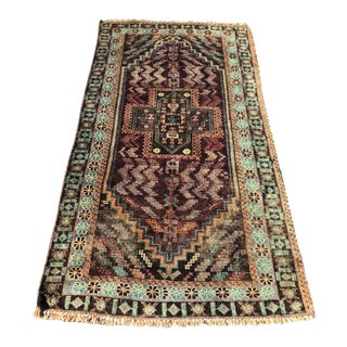 "Vintage Persian Baluchi Rug - 3'4"" x 6'6"""