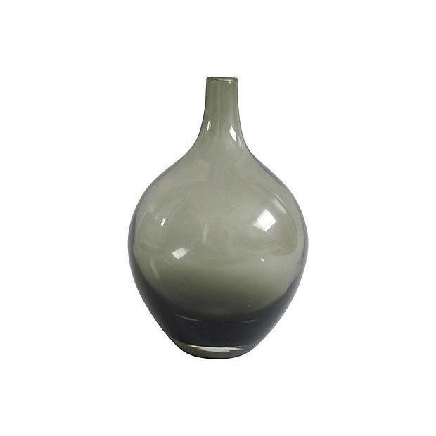 Smoky Blown Glass Vase - Image 2 of 2