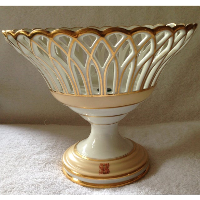 19th Century French Porcelain Corbeille - Image 2 of 5