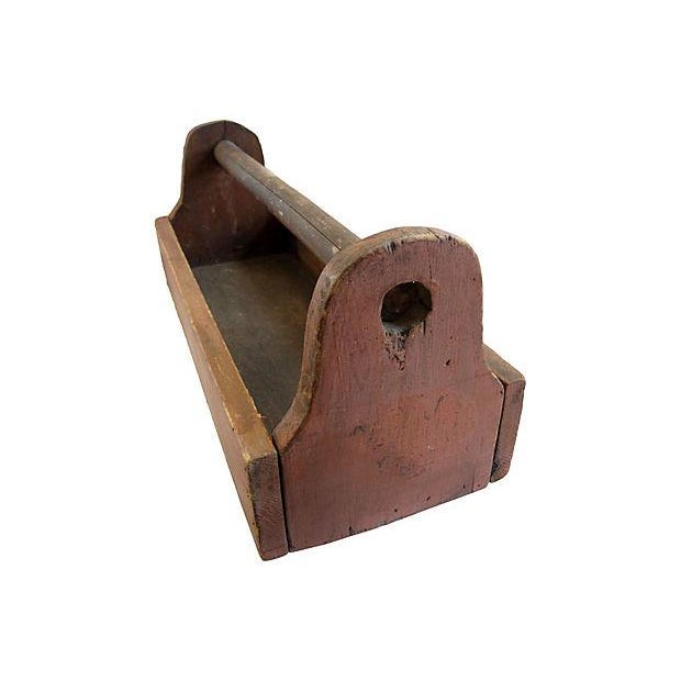 Image of Red Rustic New England Garden Work Box