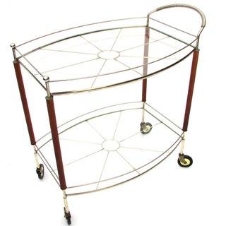 Teak Leg Bar Cart