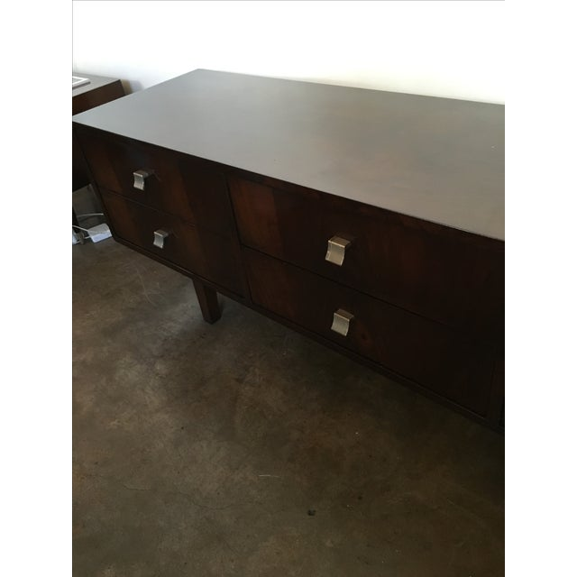 Mid Century Modern Argentine Manner of Jean Michel Frank by Comte Walnut Low Sideboard / Credenza - Image 7 of 10