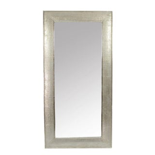 Large Hand Hammered Silver Mirror