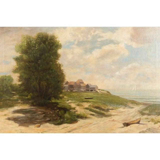 19th-Century Sea Shore Landscape - Image 3 of 10
