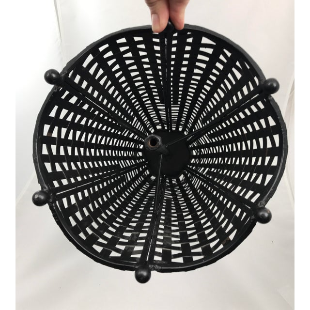 Woven Wrought Iron Umbrella Stand - Image 5 of 7