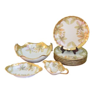 French Limoges Gilt Luncheon - Set of 6