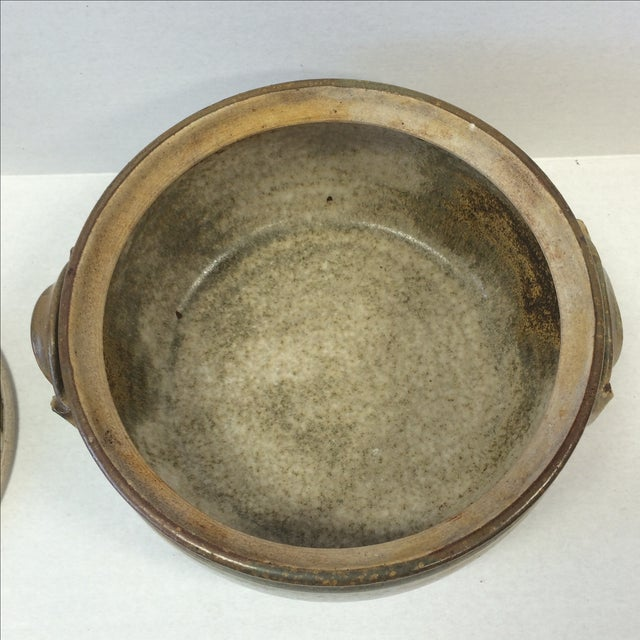 Image of Mid-Century Studio Pottery Bowl and Lid