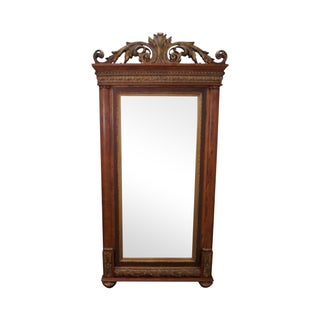 Rococo Style Beveled Dressing Pier Mirror