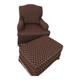 Decorator Lounge Chair & Ottoman - A Pair