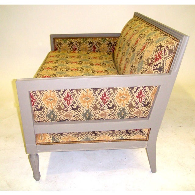 Louis XVI Style Painted Love Seat - Image 4 of 7