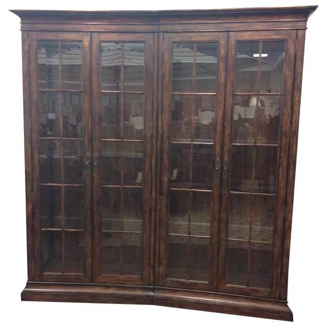 Four Door Glass Curio Cabinet - Image 1 of 7