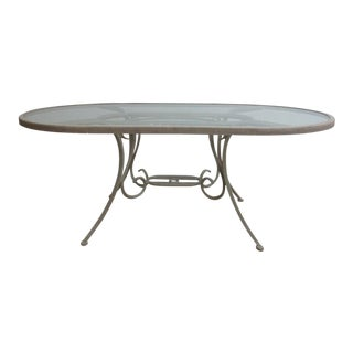 Woodard Landgrave Cast Classics Aluminum Outdoor Dining Table
