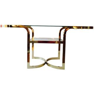 Milo Baughman Style Dia Brass Console Table
