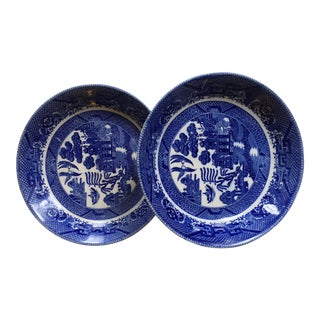 """Antique """"Blue Willow"""" Patterned Bowls - a Pair"""