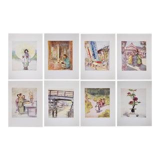 1901 Mortimer Menpes Japan Prints - Set of 8