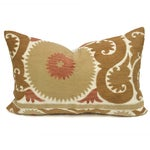 Image of Vintage Suzani Rust Floral Pillow