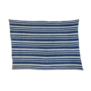"Indigo Blue Striped Throw - 3'6"" x 5'"