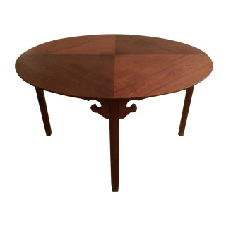 Mid-Century Asian Style Round Game Table