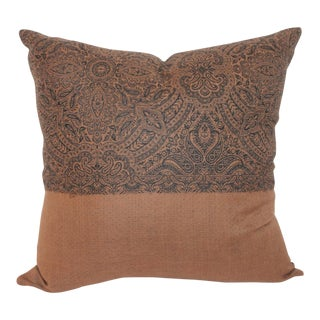 Vintage Brown & Black Coverlet Pillow