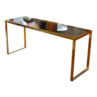 Brass & Glass Console Table
