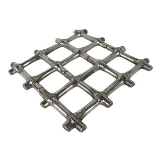 Silverplate Bamboo Trivet