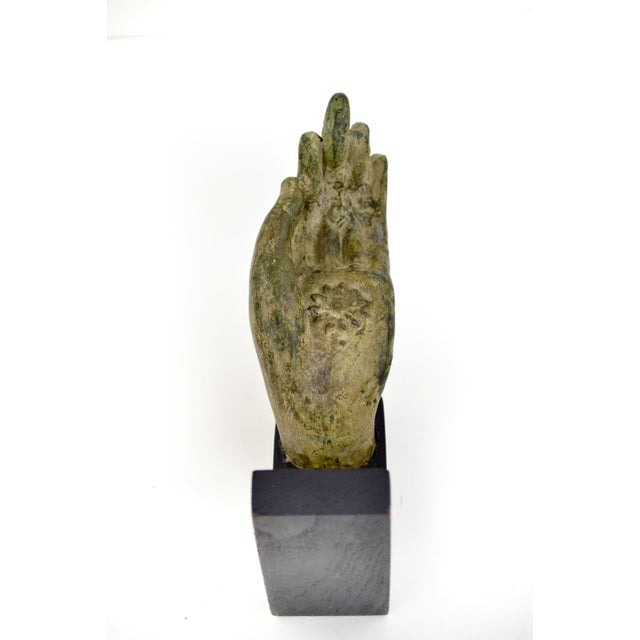 Image of Antique Bronze Thai Buddha Hand Sculpture