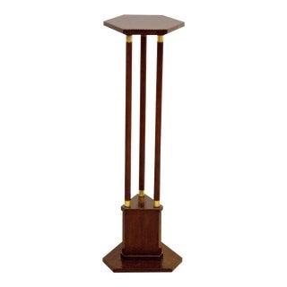 Antique Art Nouveau wooden column