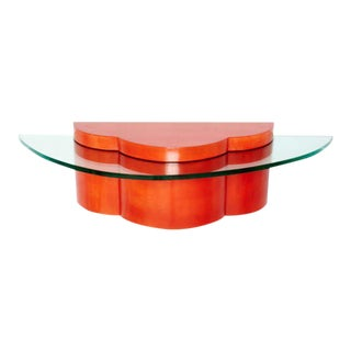 Parchment & Glass Floating Wall Console