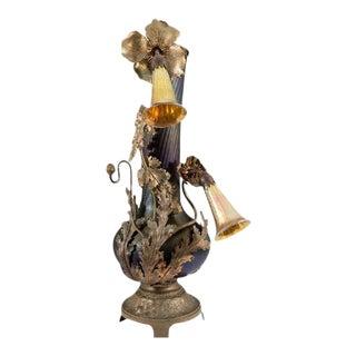 Austrian Art Nouveau Bronze Vase Form Lamp